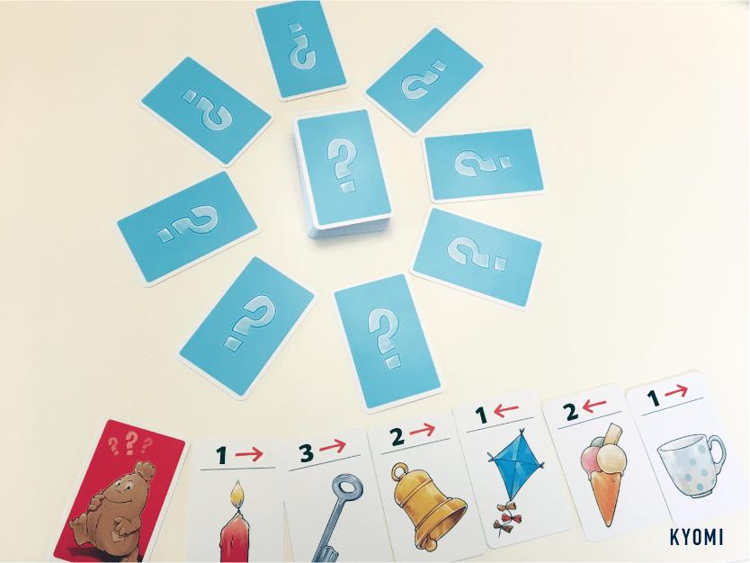プルンプザック-写真-カード並べ