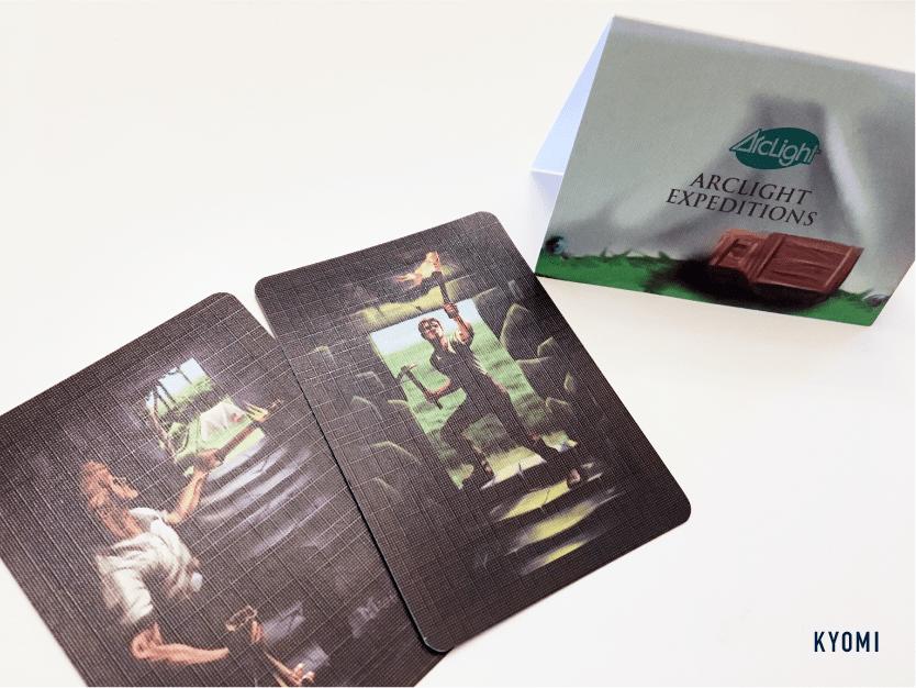 インカの黄金-写真-テントとカード