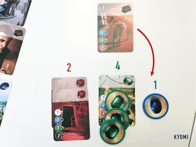 宝石のきらめき-写真-カードの効果