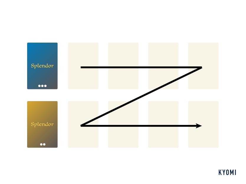 宝石のきらめき-1人用ルール-図-ダミープレイヤーのアクション1