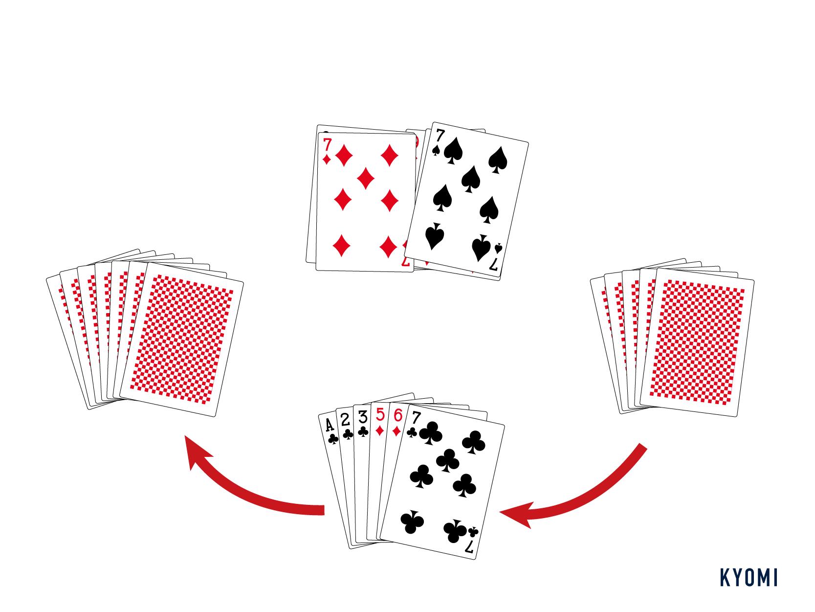 ババ抜き-図-カードを引く