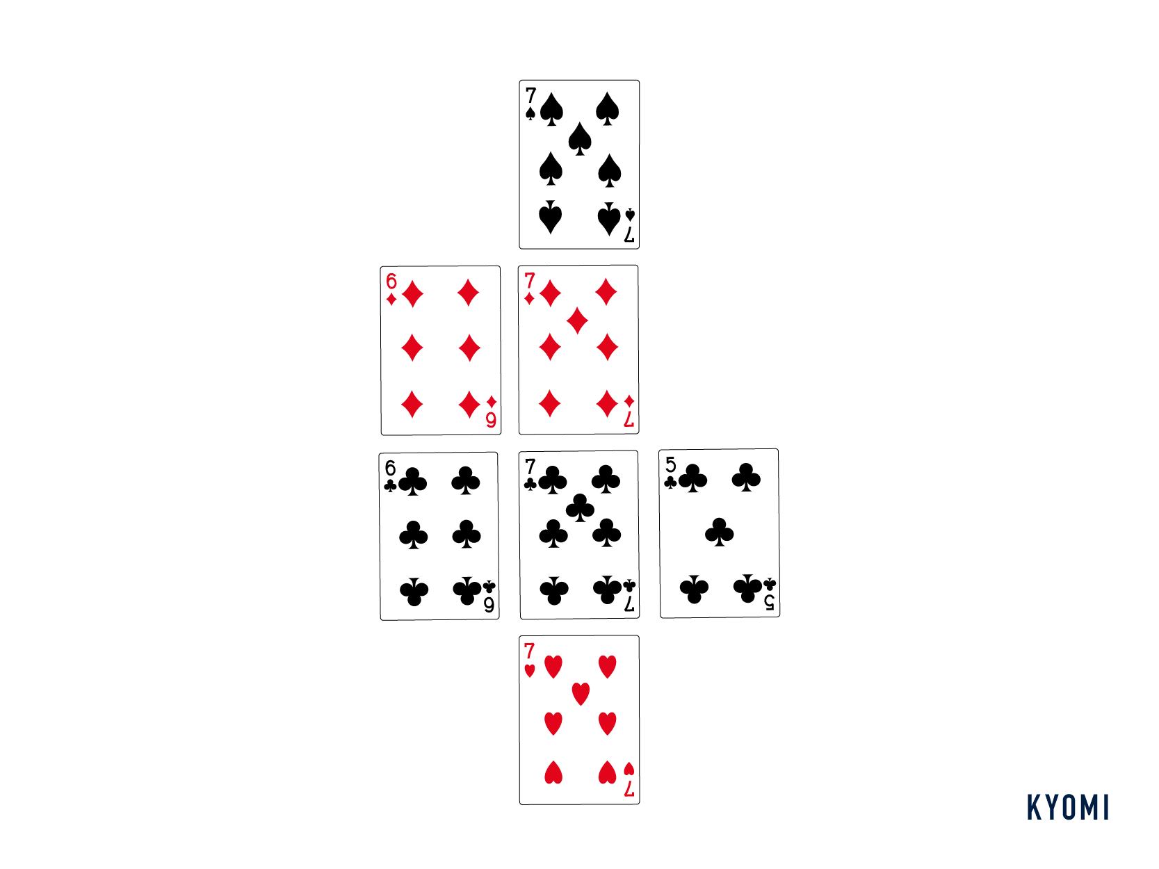七並べ-図-並べ方