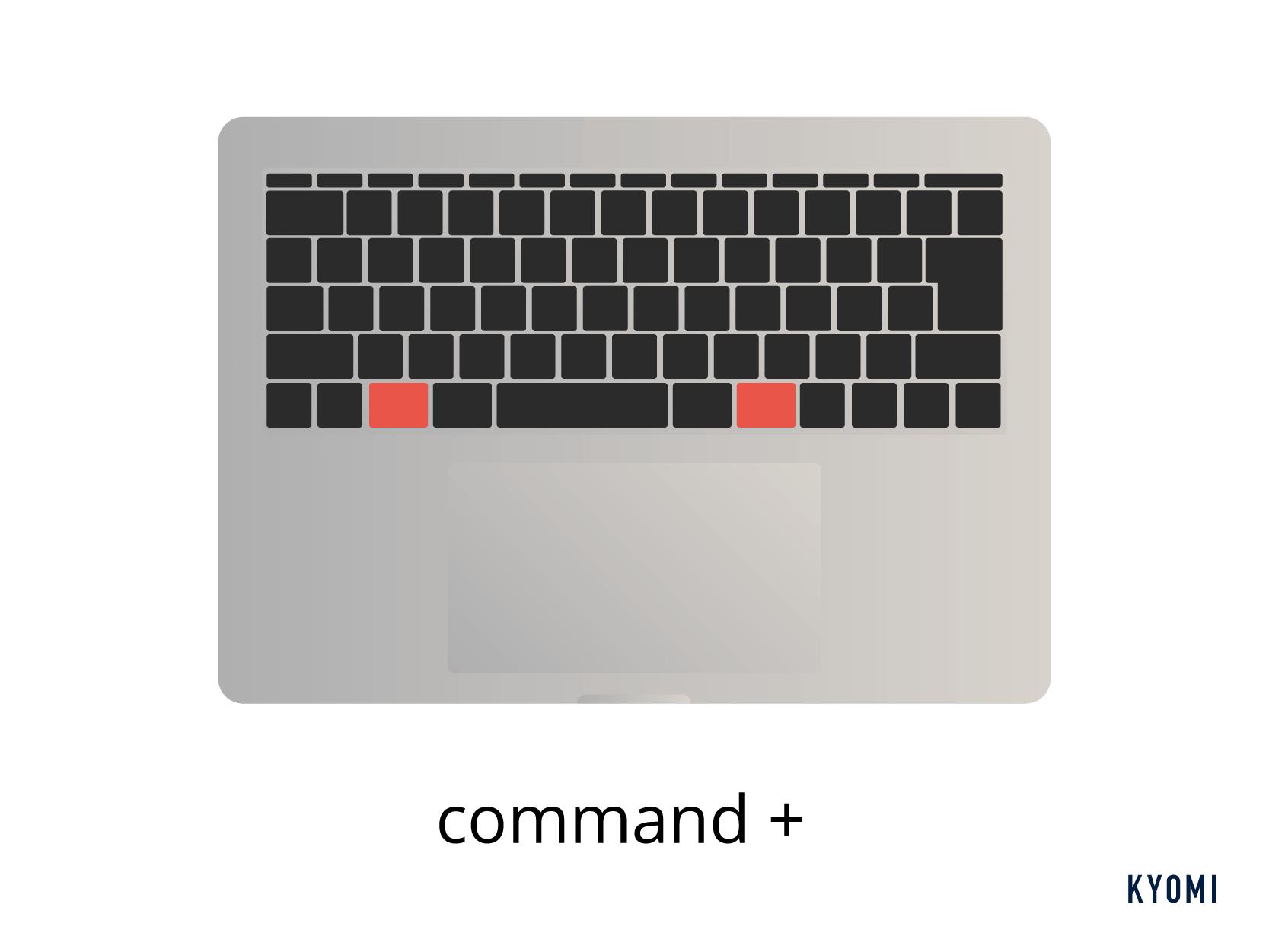 macキーボードショートカット種類-コマンドキー