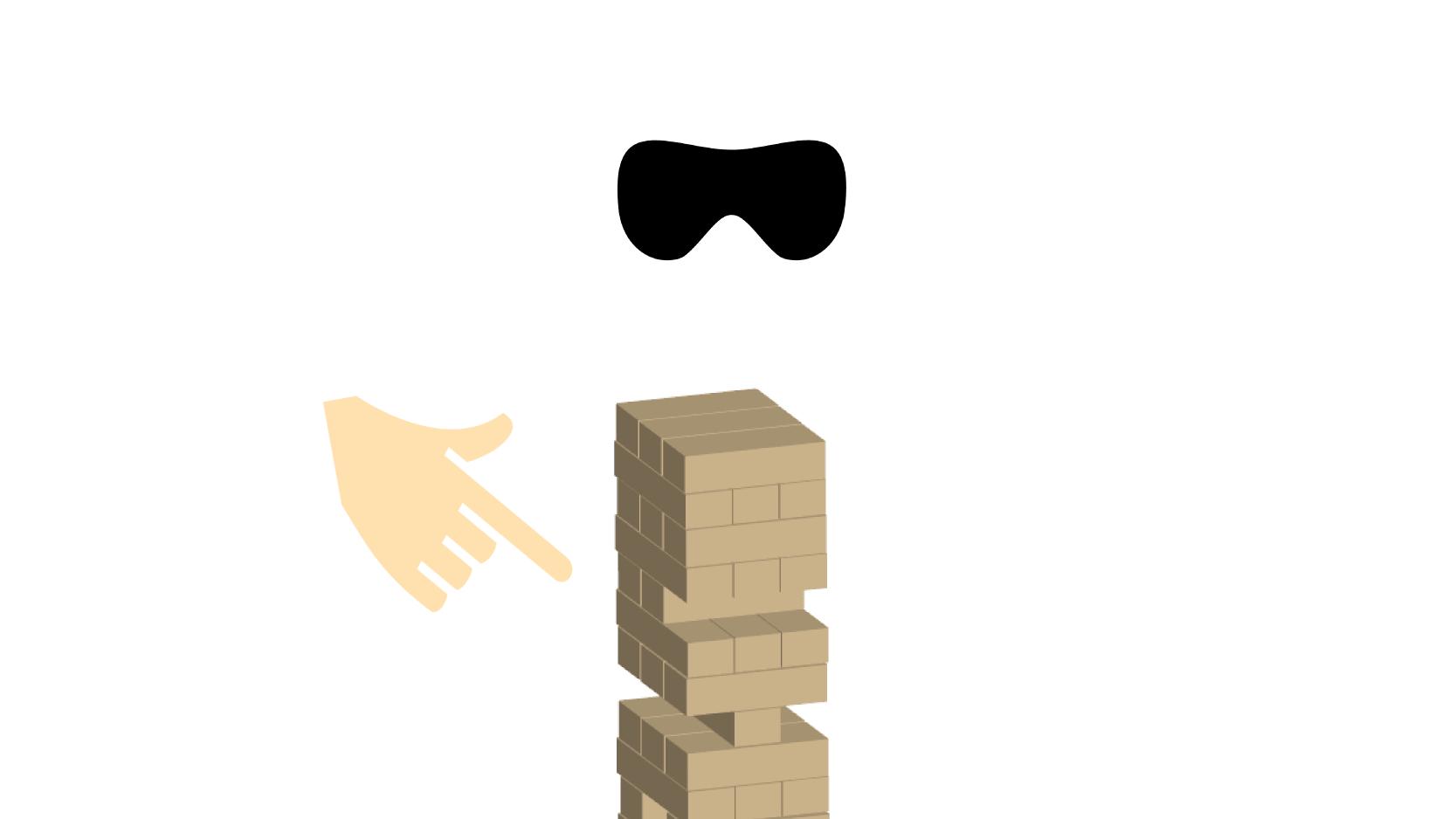 目隠しジェンガ